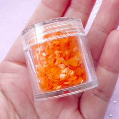 Tiny Diamond Confetti / Translucent Rhombic Flakes (Orange) Nail Decoration Supplies Scrapbooking Resin Jewelry Making Party Decor SPK131