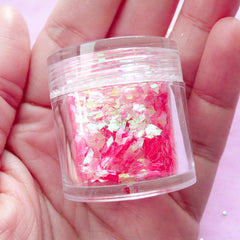 Diamond Glitter / Nail Art Confetti / Iridescent Rhombic Flakes / Small Translucent Sequin (AB Pink) Nail Decor Supplies Resin Craft SPK124