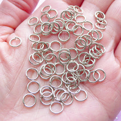6mm Open Jump Rings / Silver Jumprings (80 pcs / Tibetan Silver / 20 Gauge) Charm Connector Necklace Bracelet Making Jewellery Findings F328