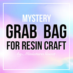Mystery Grab Bag for Resin Craft | Kawaii UV Resin Craft Kit with Pigment Silicone Mold Open Bezel Clear Film Embellishment and More