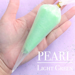 Decoden Whip Cream with Pearl Effect | Pearlescence Deco Cream | Kawaii Miniature Sweet Craft | Phone Case Decoration (50g / Light Green)