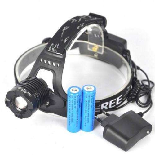 Bright Zoomable LED Headlamp Flashlight