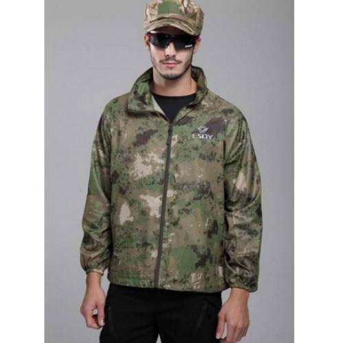 Raincoat Camo Hiking Waterproof Jacket