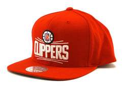 Mitchell and Ness LA CLippers team logo red