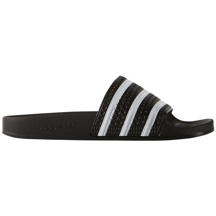 adidas Adilette Slides - Black / White