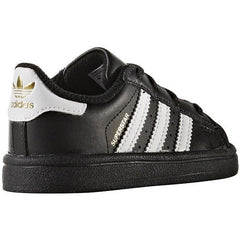 adidas Superstar Lace Up Infants - Black / White