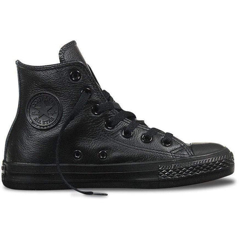 Converse Chuck Hi Leather Black / Black - West Brothers
