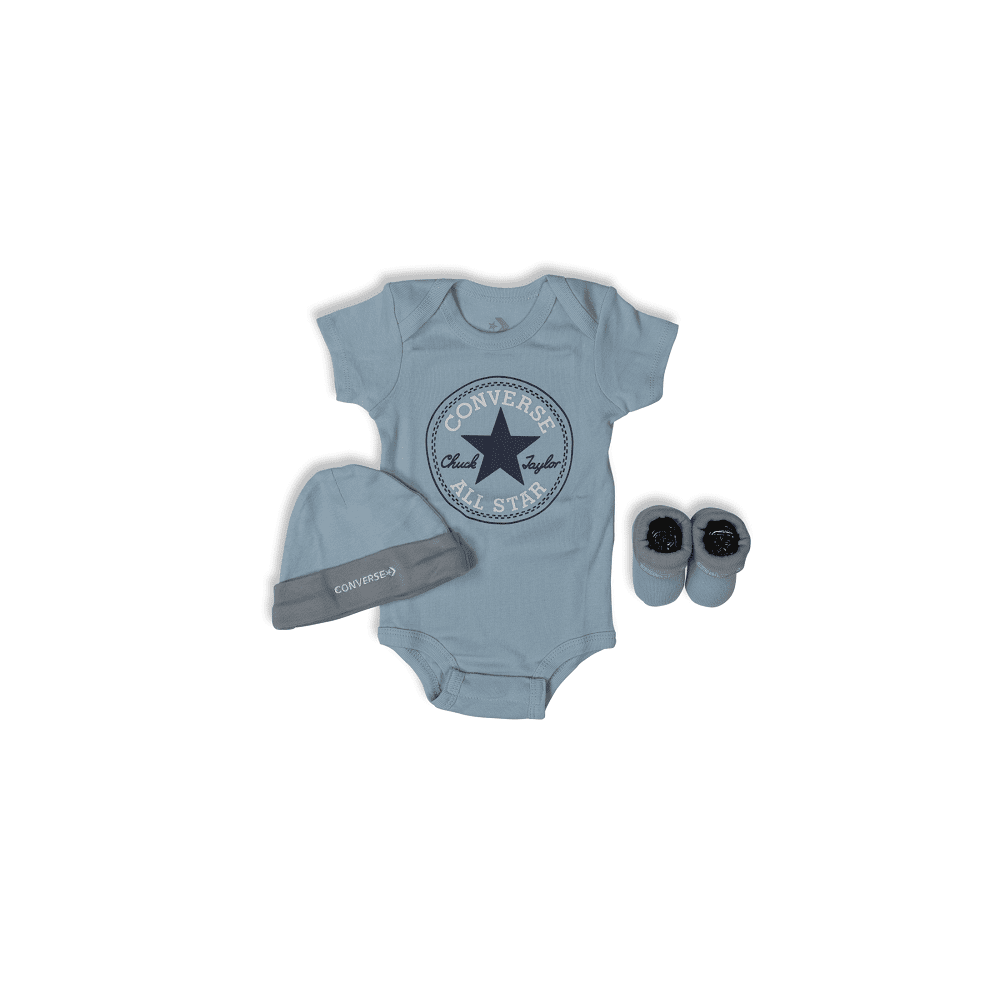 Converse Baby Classic Chuck Patch Three Piece Boxed Set - Pacific Blue Coast
