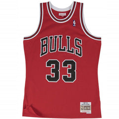 Mitchell & Ness NBA Swingman Jersey Bulls Pippen Road 97/98 - Red