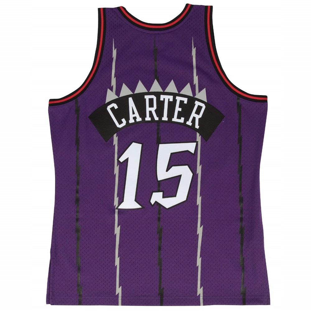 Shop Mitchell   Ness NBA Swingman Jersey Raptors Carter Purple online 7d30daef69f3
