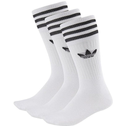 adidas Solid Crew Sock 3 Pack - White