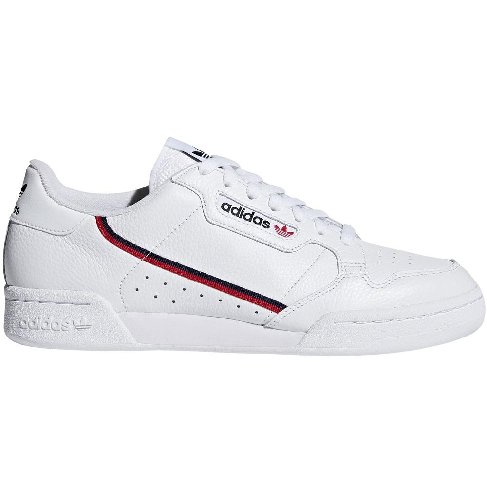 adidas Continental 80 - White / Scarlet / Navy
