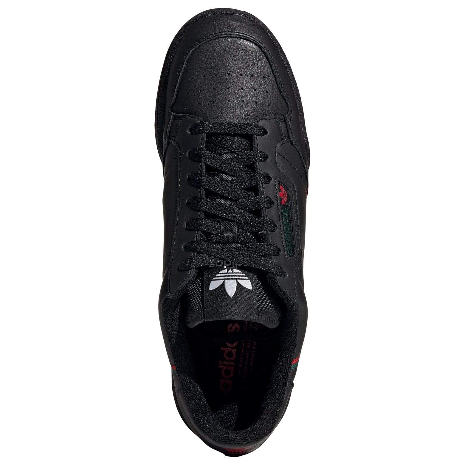 adidas Continental 80 - Black / Scarlet / Green
