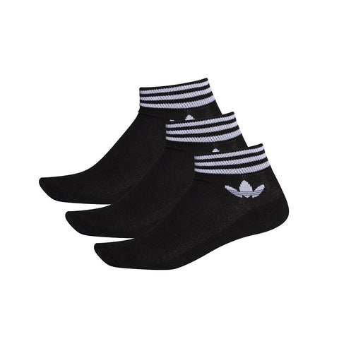 adidas Trefoil Ankle Sock 3 Pack - Black
