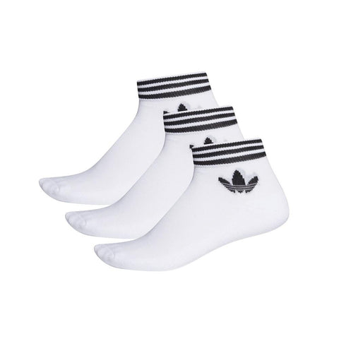 adidas Trefoil Ankle Sock 3 Pack - White