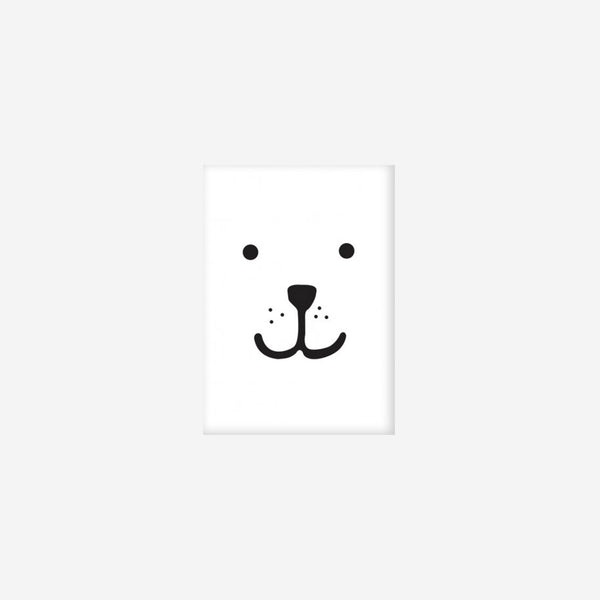 Tellkiddo Print Animal Face Bear - A3 or A4
