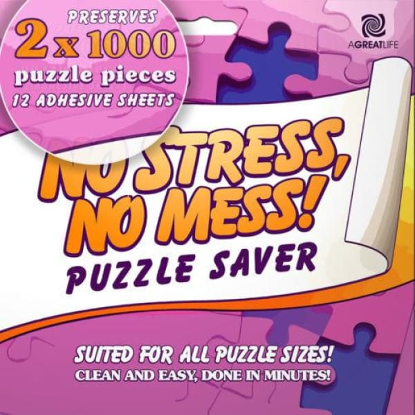 12-Sheet Peel & Stick Puzzle Saver: Preserve and Hang Your Jigsaw  Masterpiece