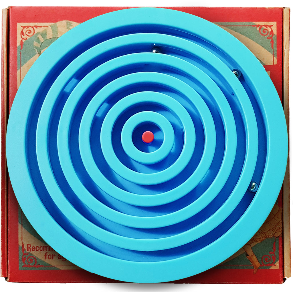 aGreatLife Labyrinth Balance Board Game - Includes 3 Steel Balls - Brain Teaser Puzzle Maze for Kids, Adults and Seniors - 3D Labyrinth Puzzle for Birthdays, Christmas - Blue