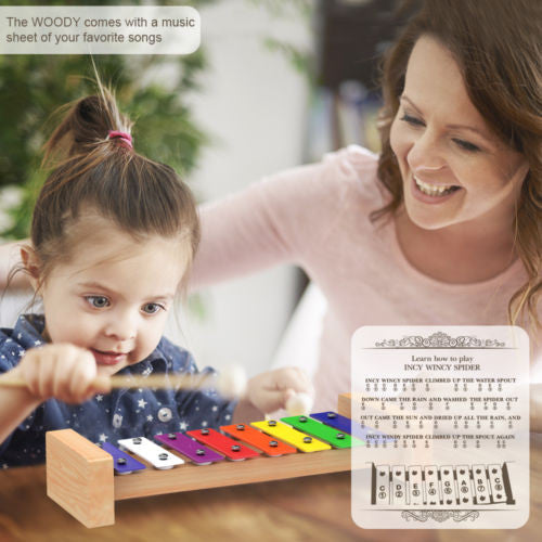 Wooden Xylophone with Free Eagle Whistle for Kids: Best for Your Little Musician