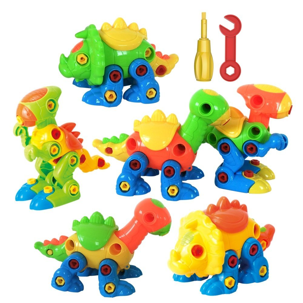 aGreatLife Take Apart Dinosaur Toy Set with Tools - Creative Building and Assembly STEAM Learning Toys for Kids And Toddlers