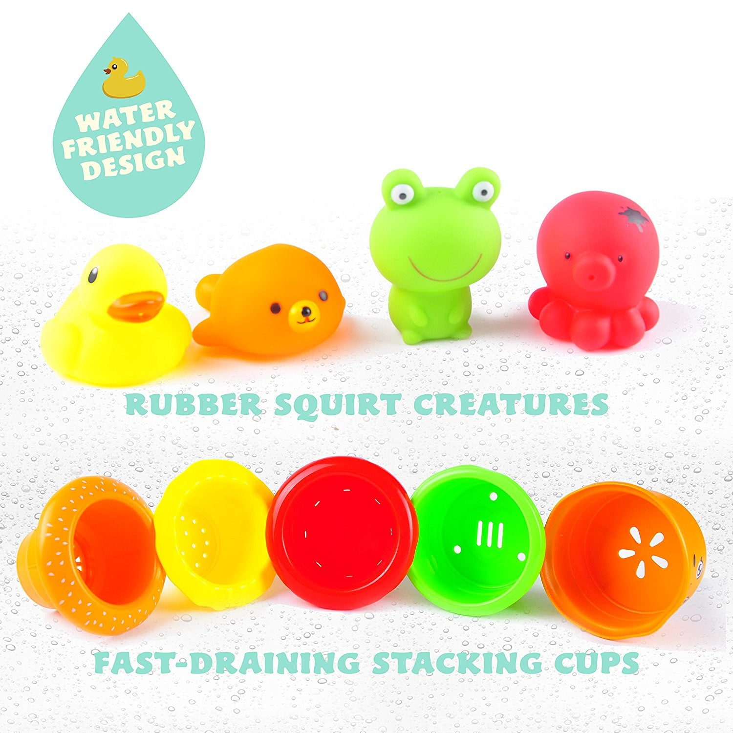 aGreatLife Stackable Nesting Cups Early Educational Bathtime Toys