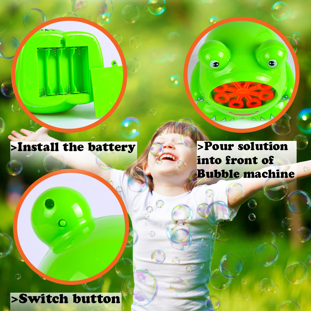aGreatLife Bubble Blower Machine for Kids | Automatic Bubble Blowing Machine | Easy to Use | Durable High Output Bubble Machine Blower for Tons of Indoor and Outdoor Fun | with Free Bubble Solution