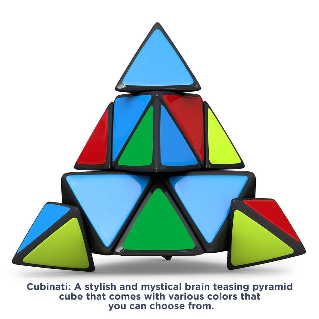 CUBINATI PYRAMINX SPEED CUBE - THE ULTIMATE BRAIN TEASER FOR KIDS AND ADULTS - SUPERIOR PERFORMANCE TRIANGLE PUZZLE TOY AND STRESS CUBE pyramix speed cube original rubik's cube speed cube rubix cube speed cube good cubes rubik's cubes rubik's speed cube