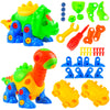 aGreatLife Take Apart Dinosaur Toys - Classic Tinker Toys with Tools, STEM Learning Building Toys for Boys and Girls, 3 Years Old and Above, Best for Early Builders and Cute Engineers