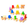 Digital Small Wooden Train: Educational Set with Fun Colorful 0-9 Number Figures for Toddlers