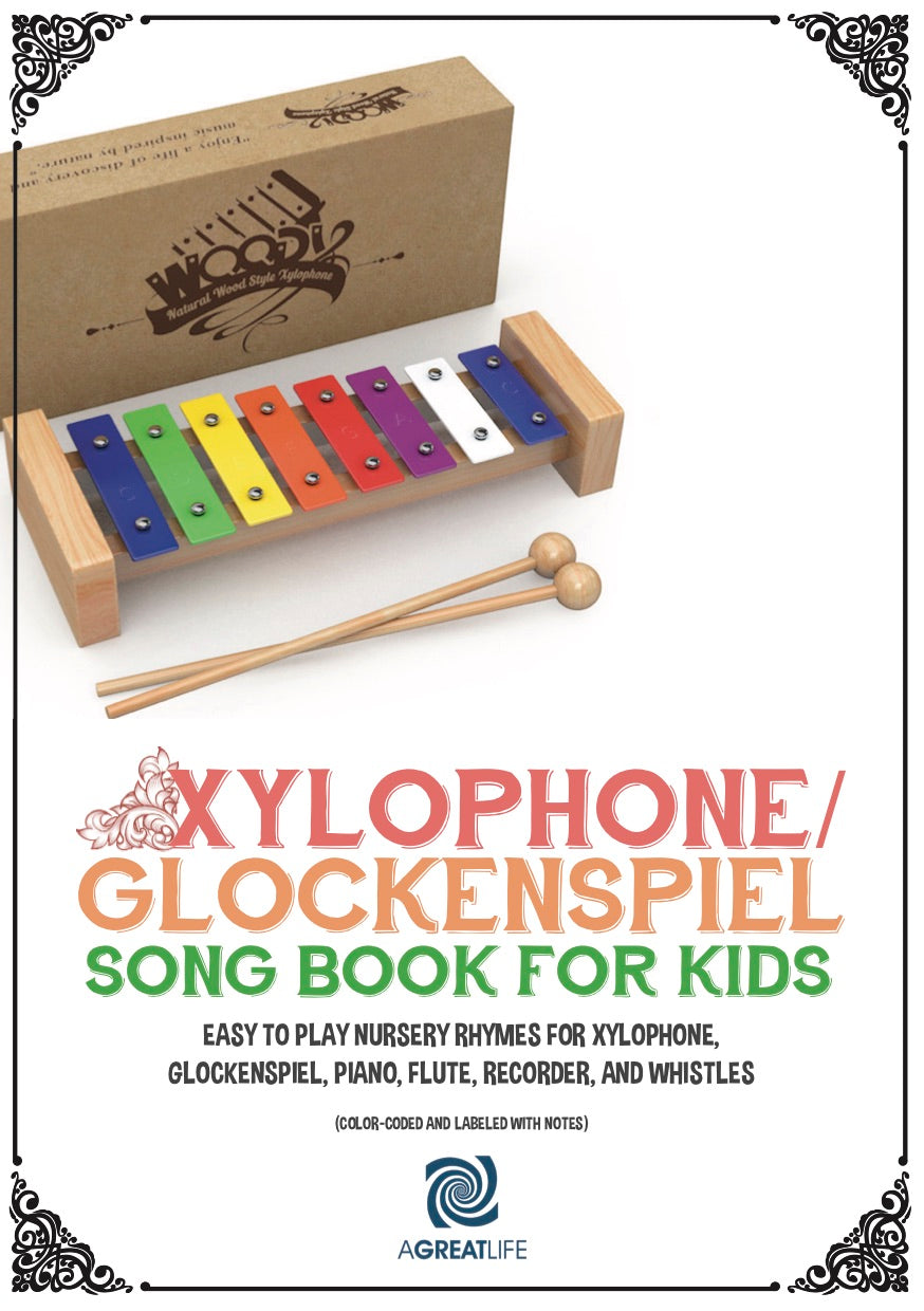 Wooden Xylophone With Free Song Book For Kids Limited Offer Only