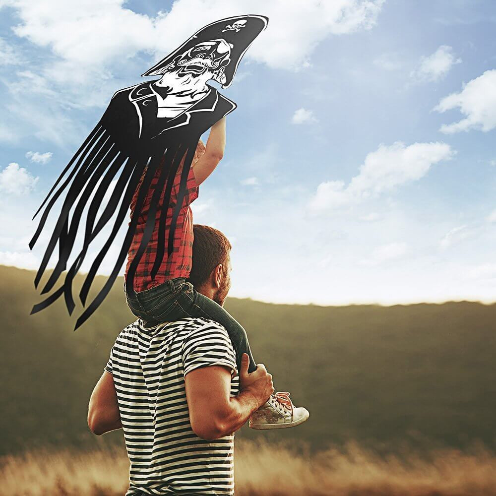 aGreatLife Pirate Kite for Kids Made from Lightweight and Strong Materials for Parks and Beach