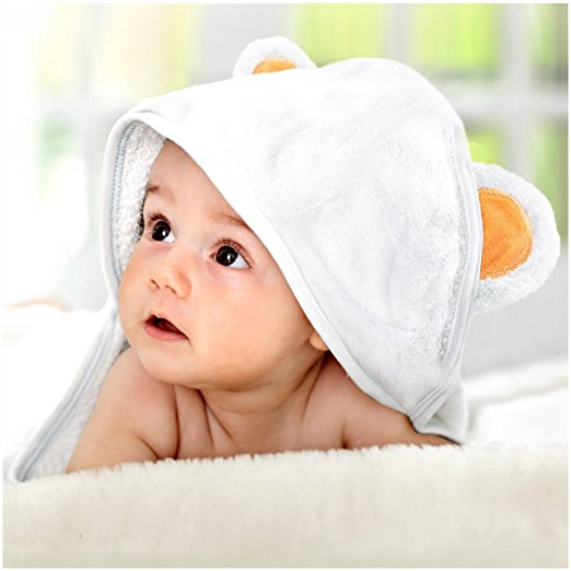 Bamboo Hooded Towel with Free Comb - Best Organic Bamboo Baby Hooded Towel - Hooded Towel Made Extra Soft - Baby Bamboo Hooded Towel Keeps Baby Dry and Warm - Eco-Friendly Baby Bath Towels with Hood