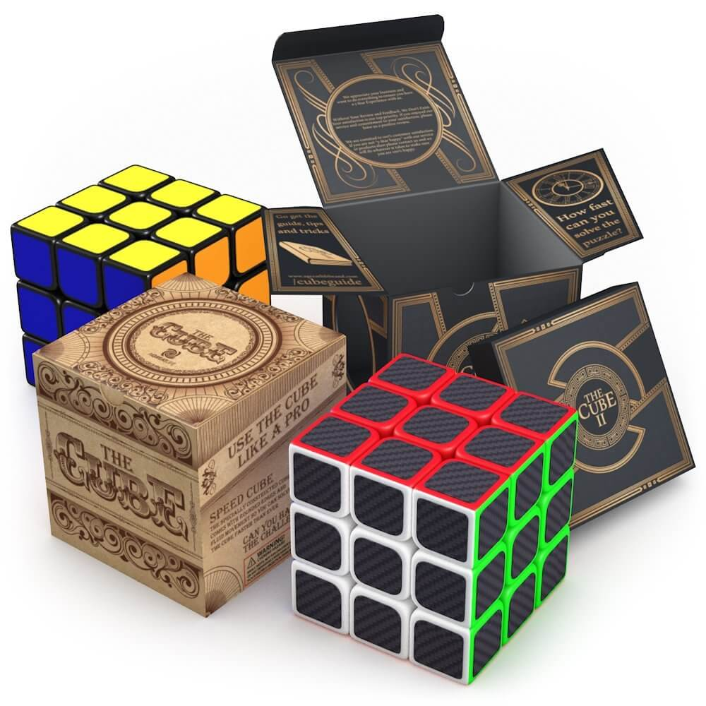 aGreatLife Speed Cube Bundle: Two Best Selling 3x3 Speed Cubes in One Set - Fun and Excitement in Two Super Durable Brain Teaser Puzzles - Best Gifts for Kids and Adults