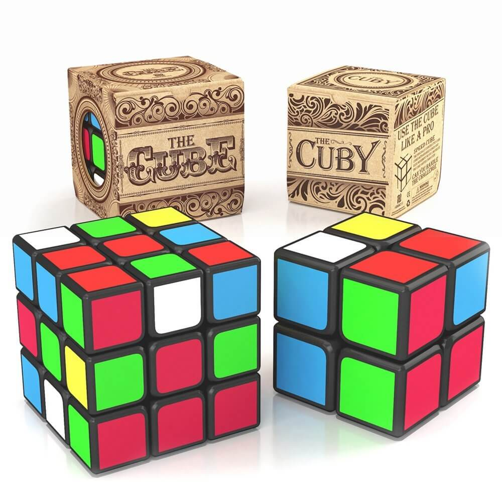 The Best Selling 3x3 Speed Cube and the Best 2x2 Brain Teaser Cube in One Power Bundle:Perfect 3D Puzzle Gift Set for Everyone