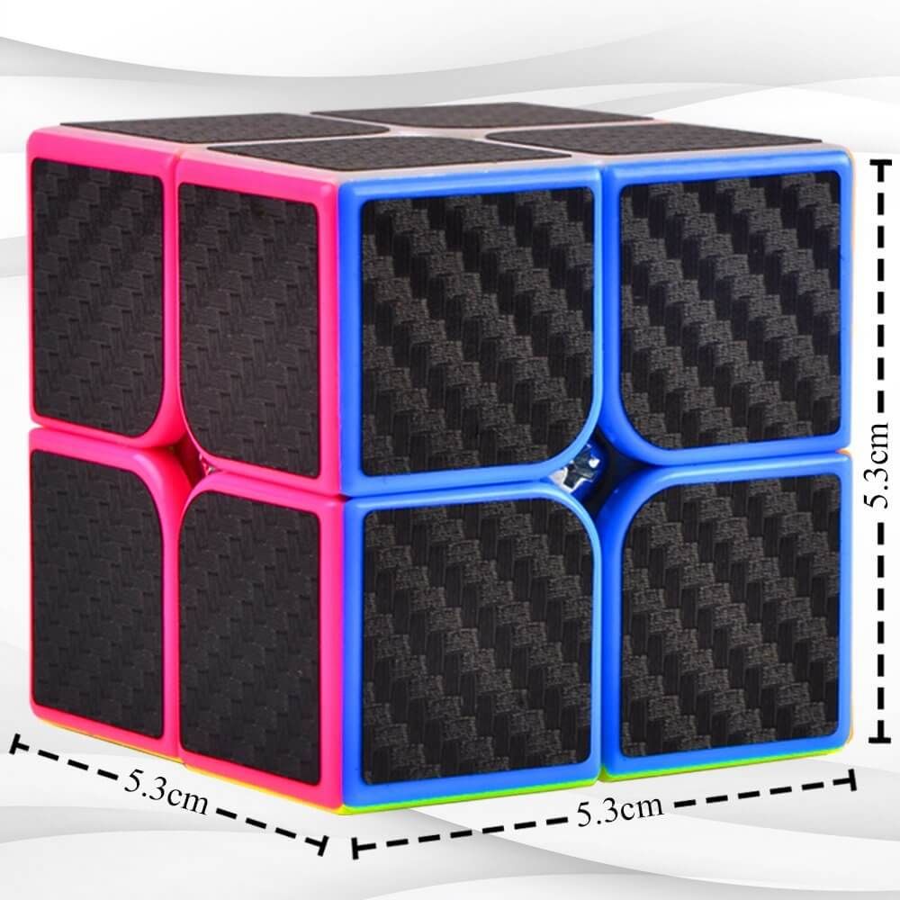 The Cuby 2: Best 2x2 Speed Cube - The All-Time Favorite Brain Teaser in a 2x2x2 Puzzle Cube - Ideal for Cube Puzzles Beginners Who Aim to Be 2by2 Speed Cube Champs - Tiny Cube 2x2, Big, Big Fun