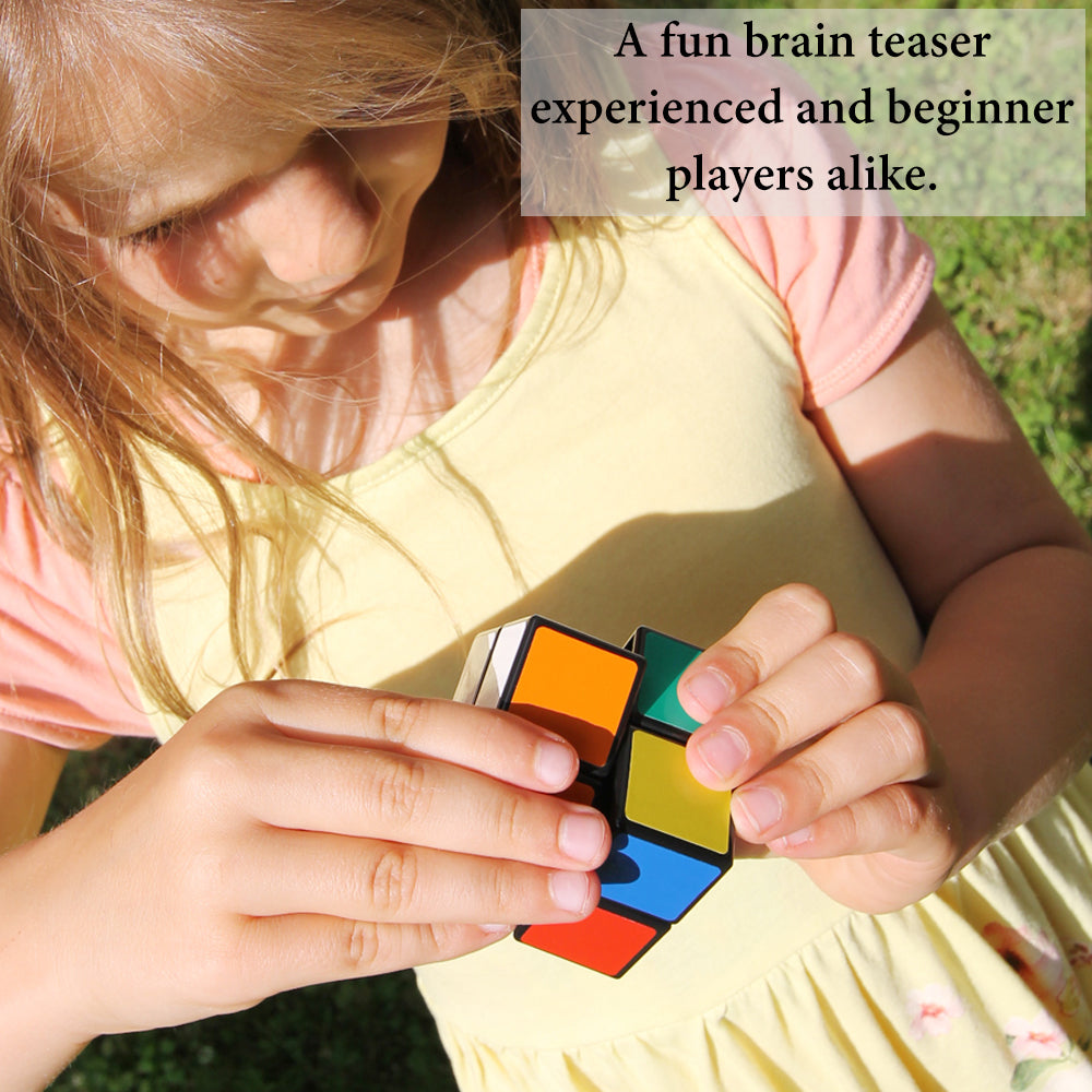 Original Smooth Cuby 2x2 Speed Cube - Two - Layer Brain Teaser Colorful  Games and Puzzles - Improved Sticker Quality - Perfect Mind Teaser for  Kids,