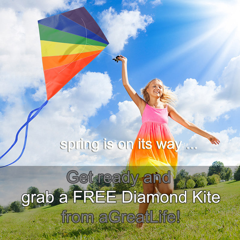 GET A FREE DIAMOND KITE FROM aGREATLIFE!