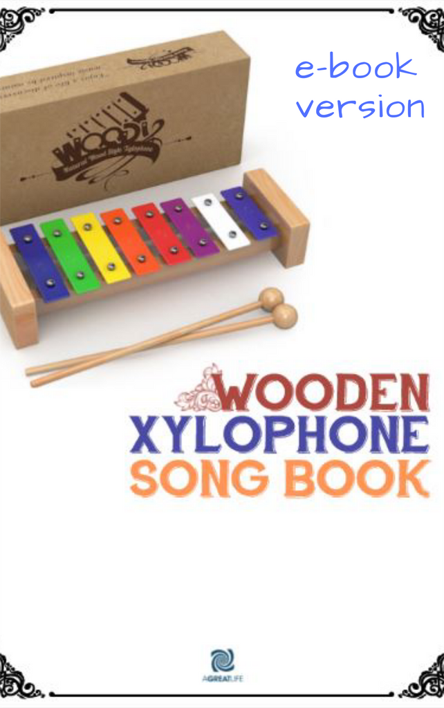 Wooden Xylophone Glockenspiel Song Book (E-BOOK VERSION )