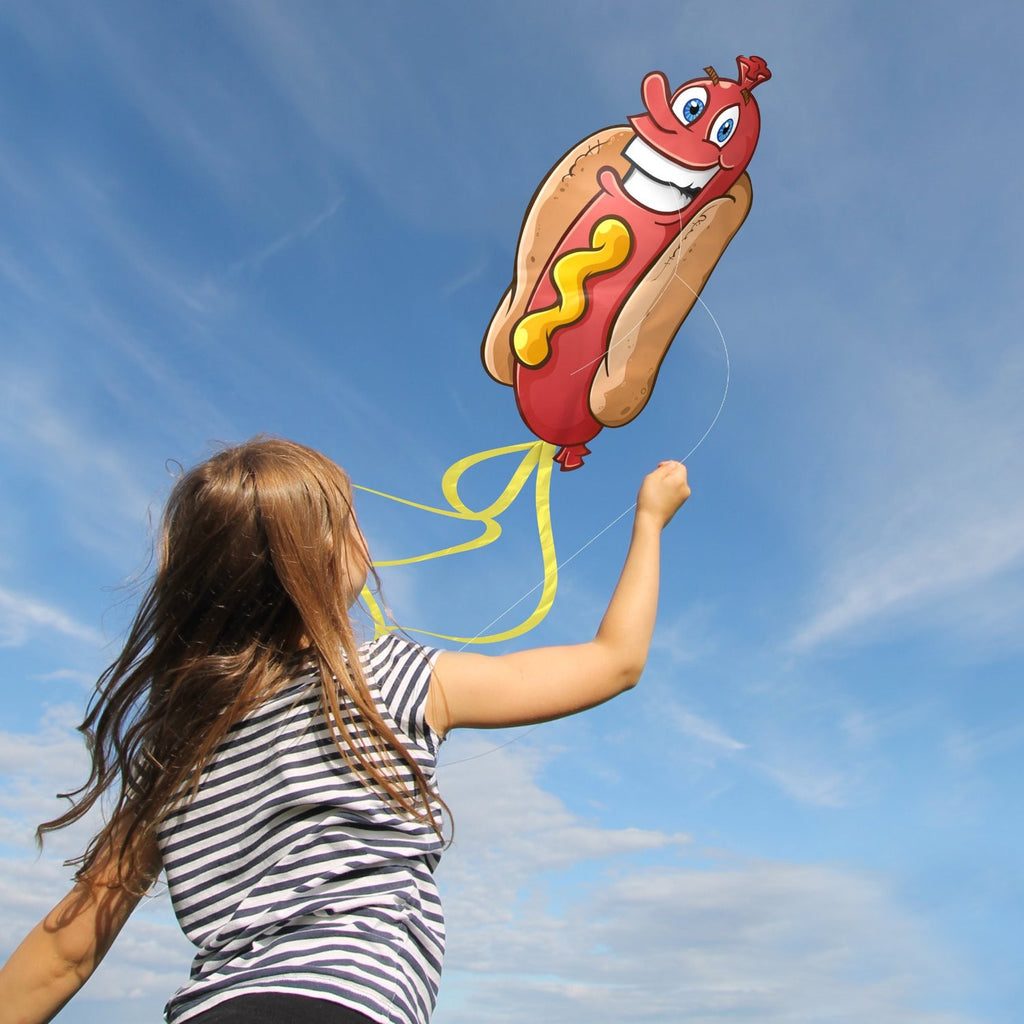 Hotdog Kite for Kids - Launches At The Slightest Breeze