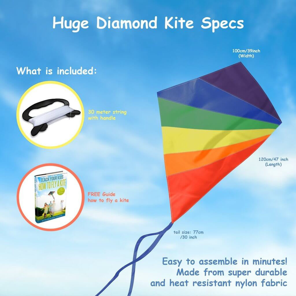 Diamond Kite Easy Flyer: Launches At The Slightest Breeze