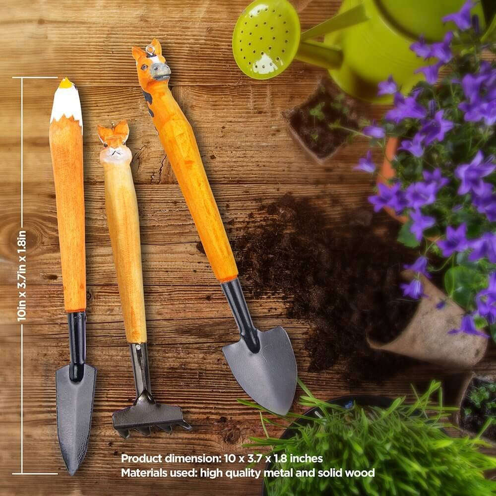 aGreatLife® Gardening Hand Tool Set Includes 3 Essential Garden Tools