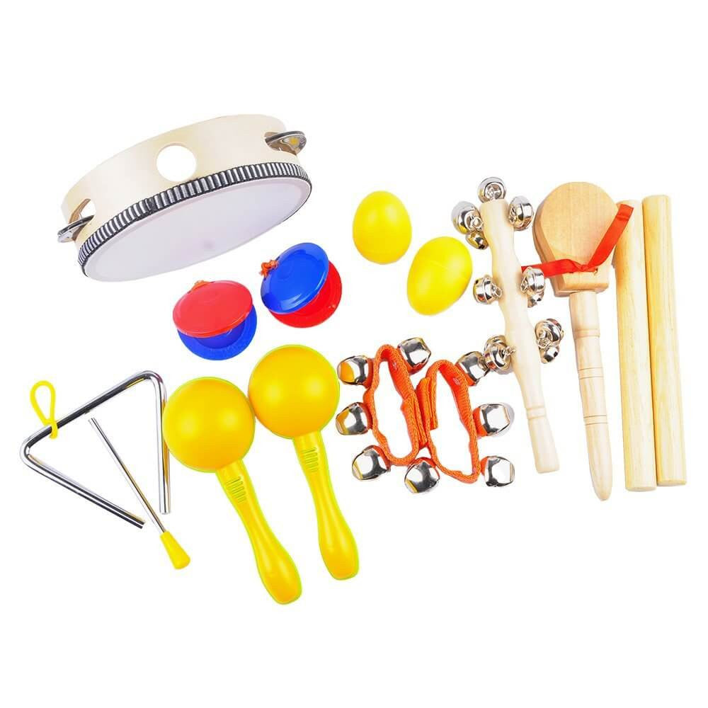 Kids Musical Instruments - Percussion Starter Kit 9-Player Band Set