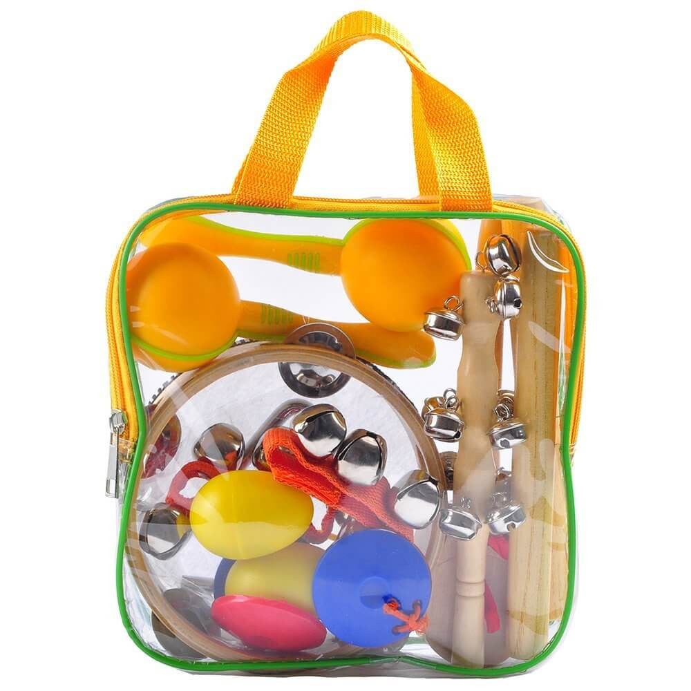 aGreatLife Kids Musical Instruments - Percussion Starter Kit 9-Player Band Set