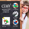 Original Smooth Cuby 2x2 Speed Cube - Two - Layer Brain Teaser Colorful Games and Puzzles - Improved Sticker Quality - Perfect Mind Teaser for Kids, Toddlers and Adults