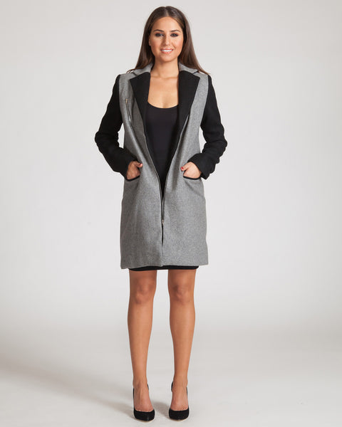 ASILIO MINIMALIST COAT-BLACK & GREY