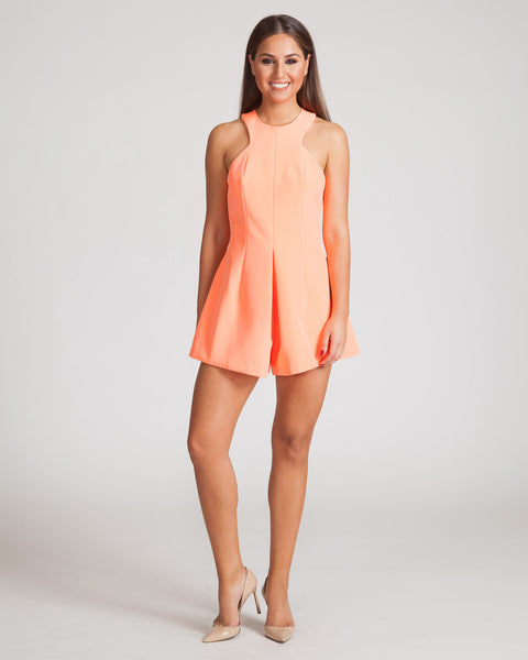 FINDERS KEEPERS UNBELIEVERS PLAYSUIT-APRICOT