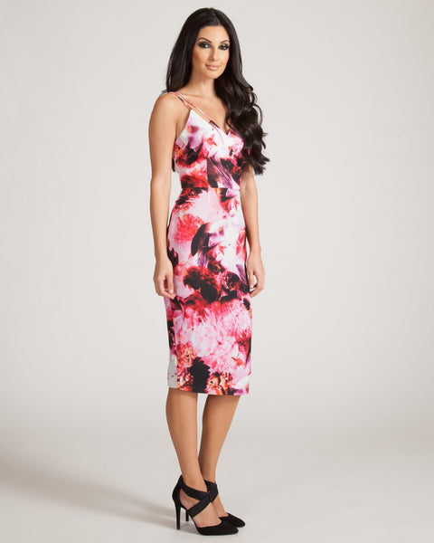 KEEPSAKE SKINNY LOVE PRINTED DRESS