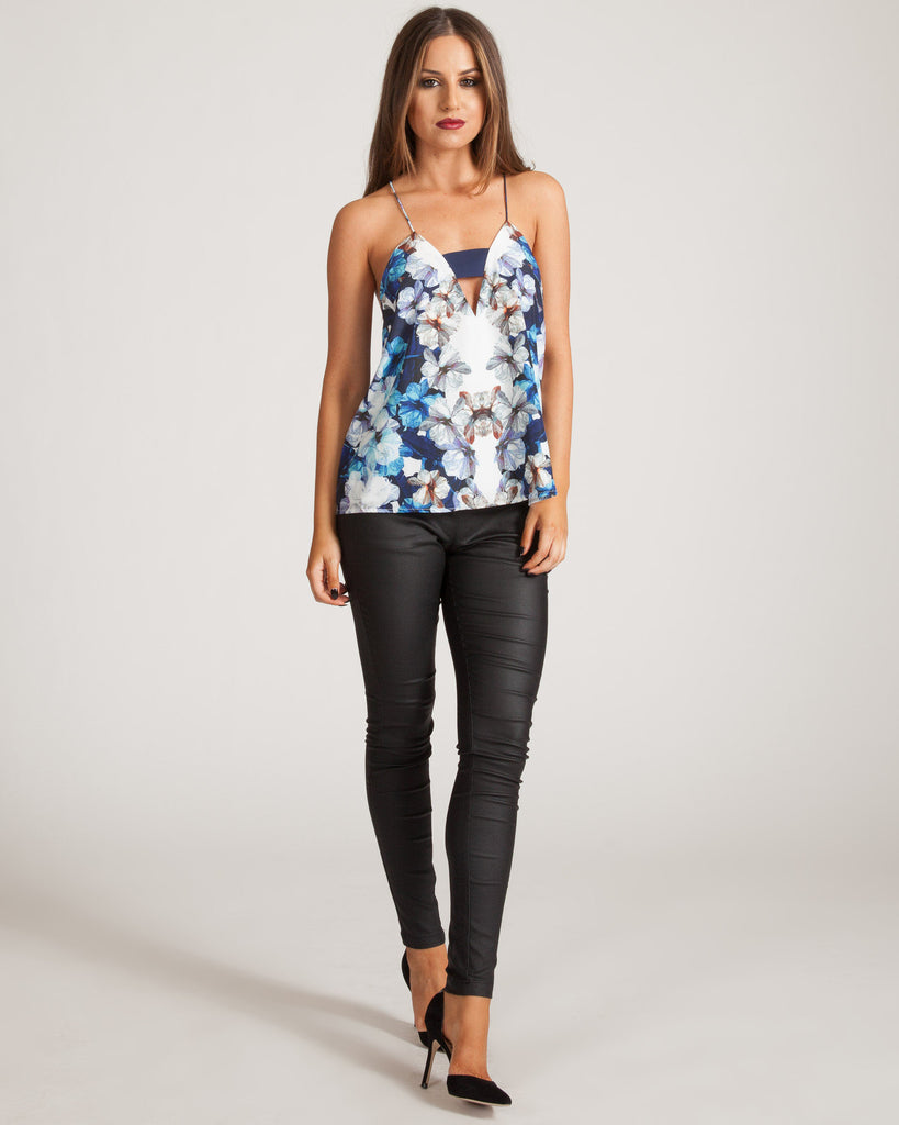 FINDERS KEEPERS MIDNIGHT FLORAL TOP