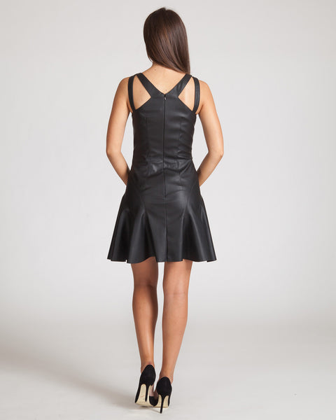 JAY GODFREY STEWART LEATHER DRESS-BLACK