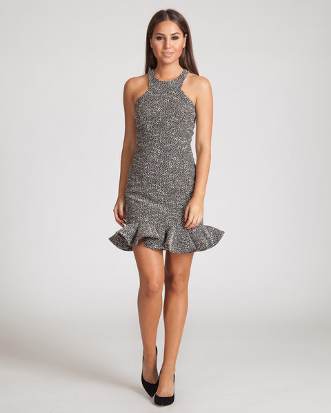 JAY GODFREY CHARLIE TWEED DRESS-BLACK & WHITE